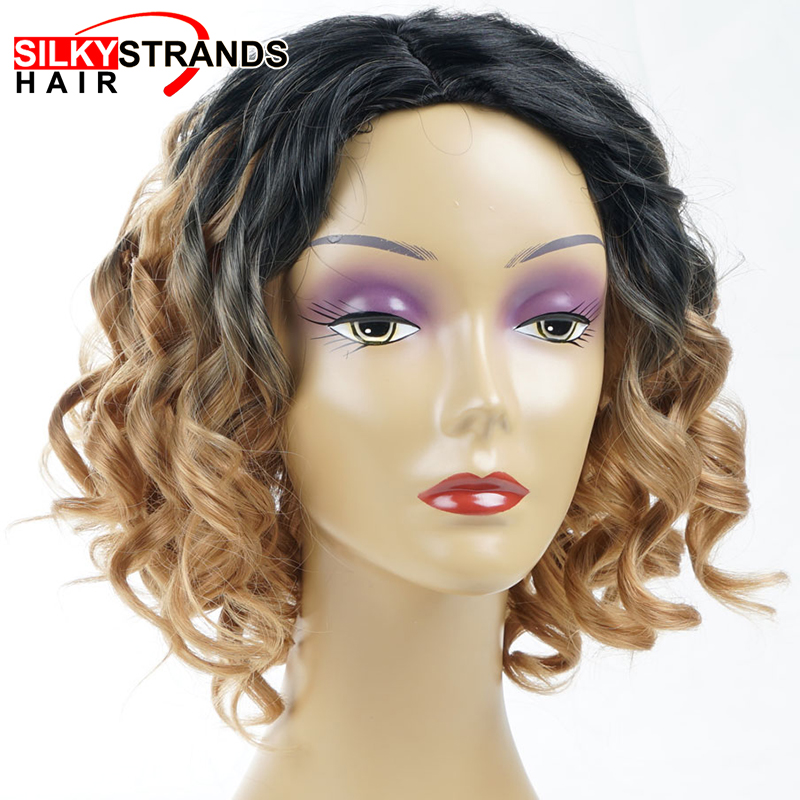 light brown curly wigs for women over 50 ombre synthetic