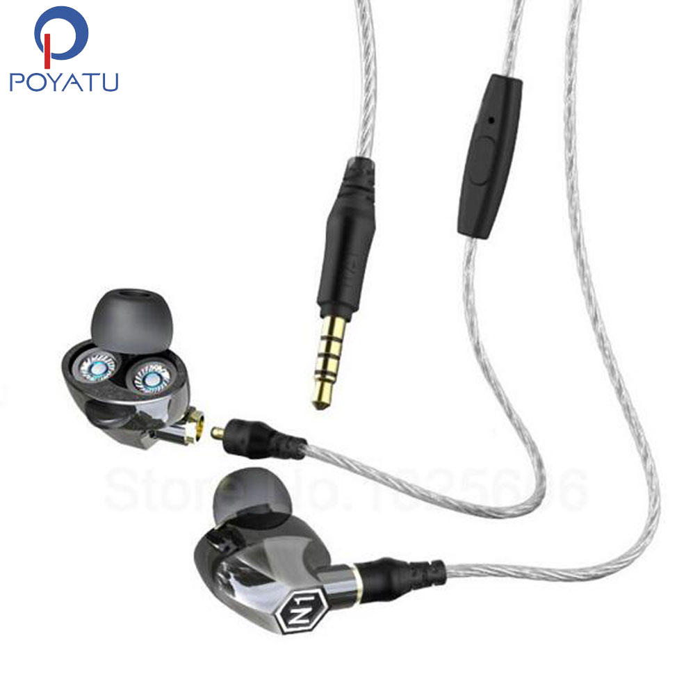 POYATU HIFI Deep Bass Earphones Earphone For Phone Auriculares Fone De Ouvido Ear Phones With Microphone Stereo Headset With Mic