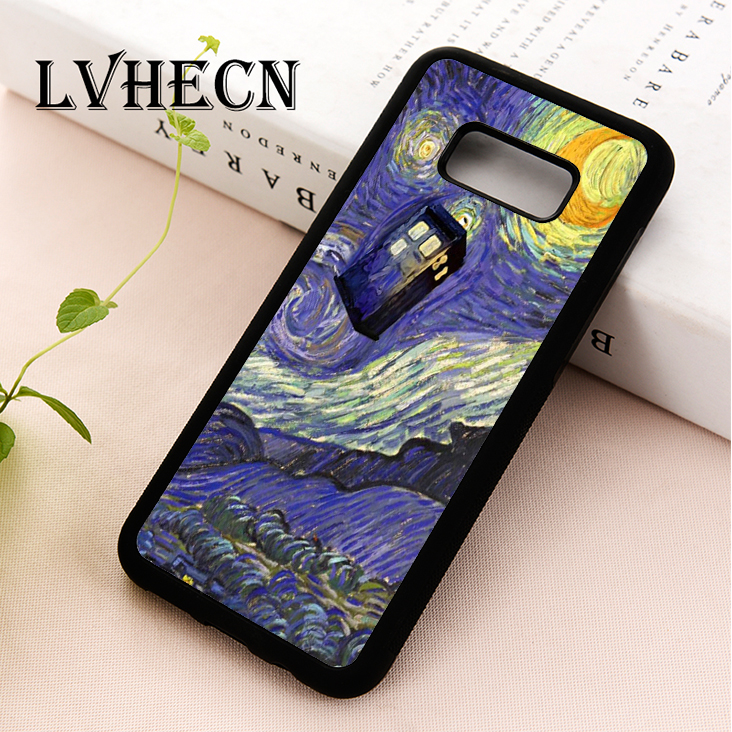Fitted Cases Painstaking Lvhecn Tpu Phone Case Cover For Samsung Galaxy S5 S6 S7 S8 S9 S10 Edge Plus S10e Lite Note 5 8 9 Doctor Who Tardis Starry Night Always Buy Good
