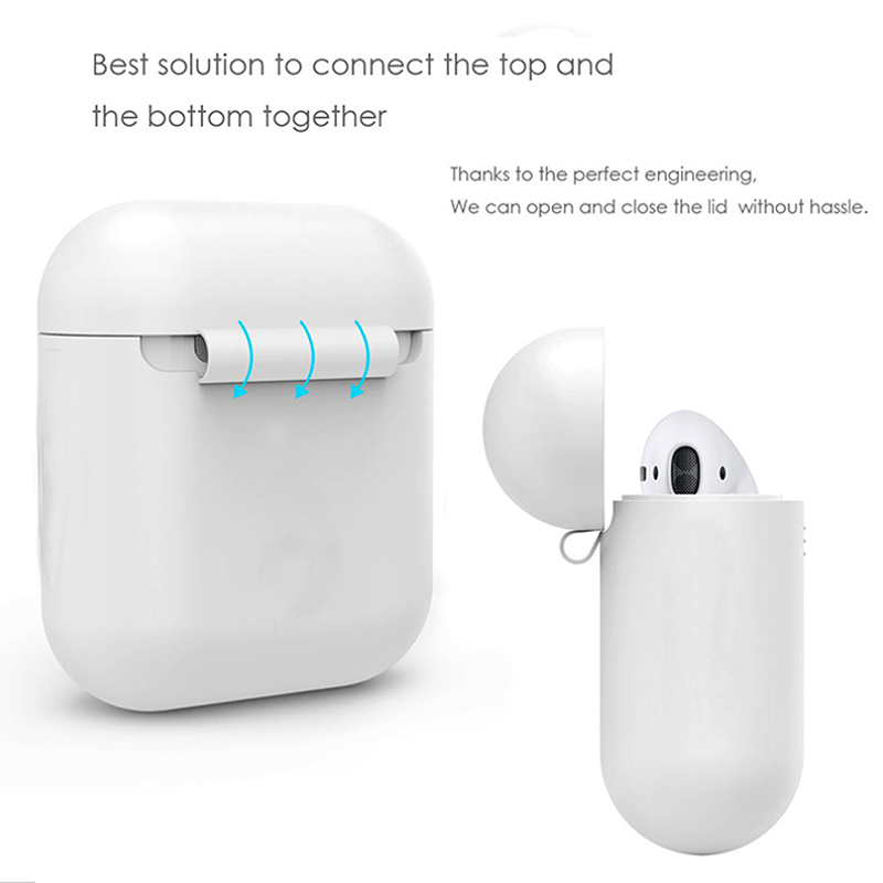 DOITOP Ultra Thin Shockproof Protector Case sFor Apple Airpods Soft Silicone Case Cover For Apple AirPods Earphone Shell A3