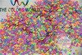 An25-6 neón resistente a los disolventes Glitter Mix Glitter uñas de acrílico polaco, suministros polacos y otros la decoración de DIY 1 Pack = 50 g