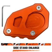 For KTM 1050 1090 1190 1290 Adventure Aluminum Motorcycle Side Stand Pad Enlargement Plate Kickstand Extension