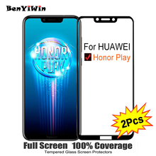 2PCS Full Cover Screen Protector Tempered Glass For Huawei Honor Play 6.30″ 9H Protective glass For Huawei Honor Play Film Case