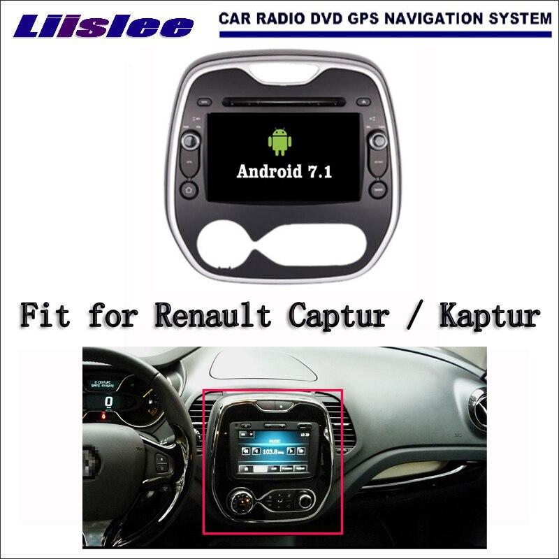 Liislee Android 7.1 2 г оперативной памяти для Renault Captur/Каптур автомобиля Радио Аудио Видео Мультимедиа dvd плеер Wi Fi DVR GPS Navi навигация