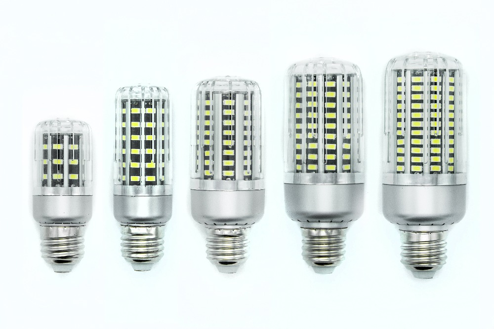 E12 E14 E27 5W 10W 15W 20W 25W SMD5736 85-265V spiral Super bright LED corn bulbs Lighting energy-saving lamps energy efficient 7w e27 3014smd 72led corn bulbs led lamps