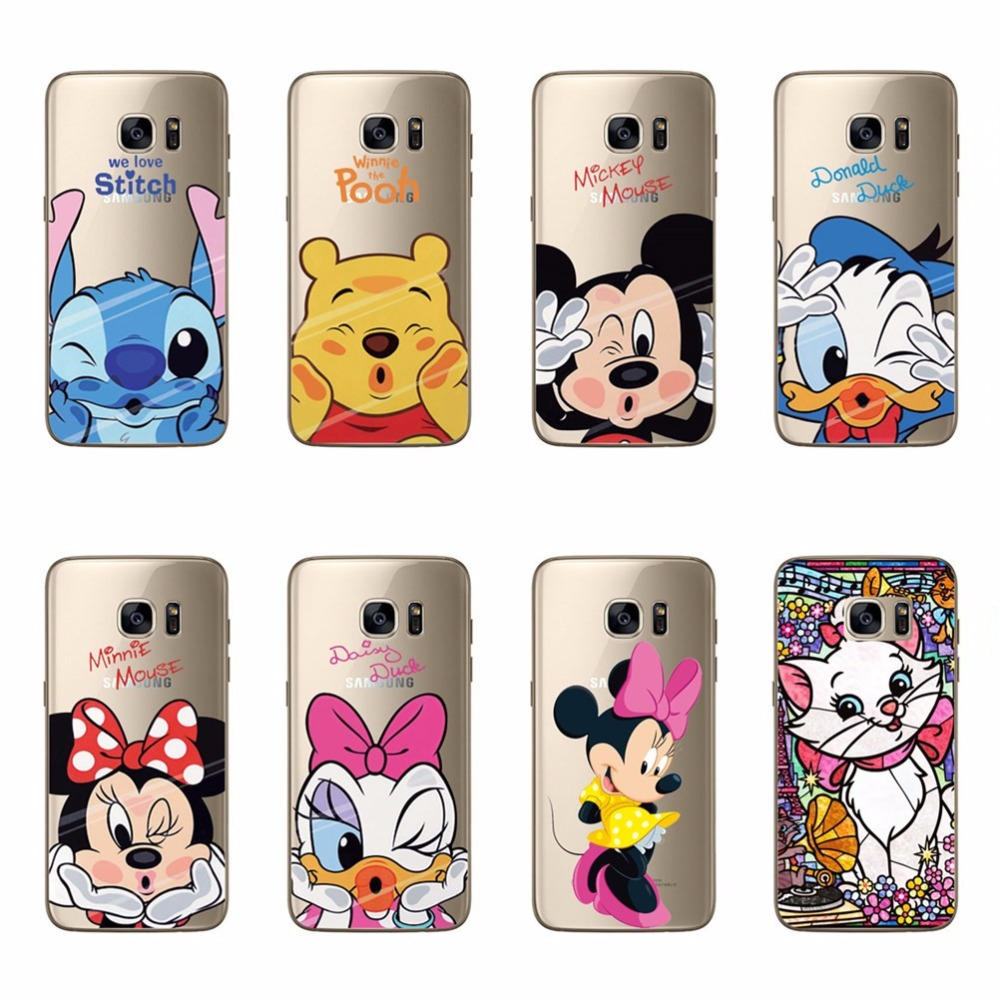 Mickey Minne Cat Soft TPU Silicone Case For Samsung S6 S6 Edge S7 S7 Edge S3 S4 S5 Mini Note 3 4 5 A3 A5 A7 J1 J5 J7 2016 Cover