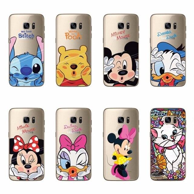 Mickey Minne Soft TPU Silicone Case For Samsung S6 S6 Edge S7 S7 Edge S3 S4 S5 Mini Note 3 4 5 A3 A5 A7 J1 J5 J7 2016 2017 Cover