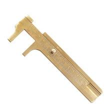 Pochette pour outil de mesure de haute qualité, Mini jauge coulissante en laiton, pied à coulisse 0-80mm