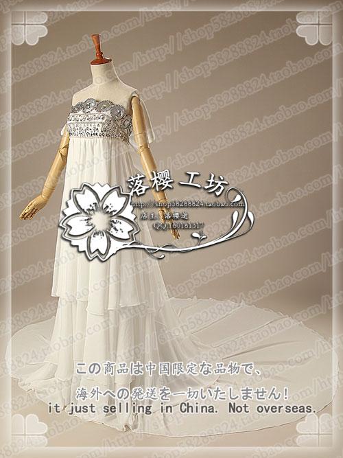 Sailor Moon Princess Tsukino Usagi White Luxury Chiffon Party Dress Halloween Cosplay Costume Uniform Outfit Custom made - 2