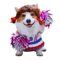Funny Pet Costume Ball Game Cheerleaders Cosplay Clothes for Cats Puppy Dogs Summer Cat Clothes Dog T-Shirt Halloween Xmas Suit