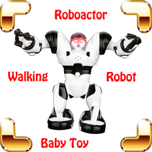 New Coming Gift ROBOACTOR Electric Mini Robot Toy For Children Lightning Eyes Dance Action Machine Education Learning Toy Figure