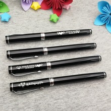 Classic silver clip pen rollerball 50g/pc boss wanted sign custom free with any logo text on body or cap