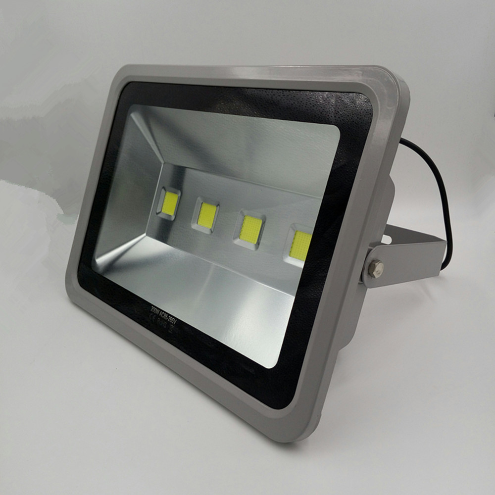 ultrathin LED flood light 200W grey AC220V 230V 240V waterproof IP65 Floodlight Spotlight Outdoor Lighting Free shipping ultrathin led flood light 100w 150w 200w black garden spot ac85 265v waterproof ip65 floodlight spotlight outdoor lighting