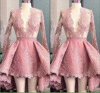 Серые, розовые кружевные короткие пышные платья для выпускного вечера Женские официальная Вечеринка платье пикантные Deeep v образным вырезо