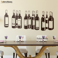 Wine Bottle Vinyl Wall Stickers Removable Home Decor For Living Room Baby Nursery Bedroom Kitchen Home