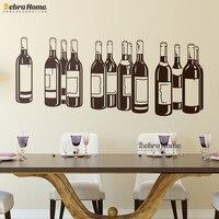 Butelka wina Naklejki Ścienne Winylowe wymienny home decor Dla Living Room Przedszkole Dla Dzieci Sypialnia Kuchnia Home Decor Mural Tapety