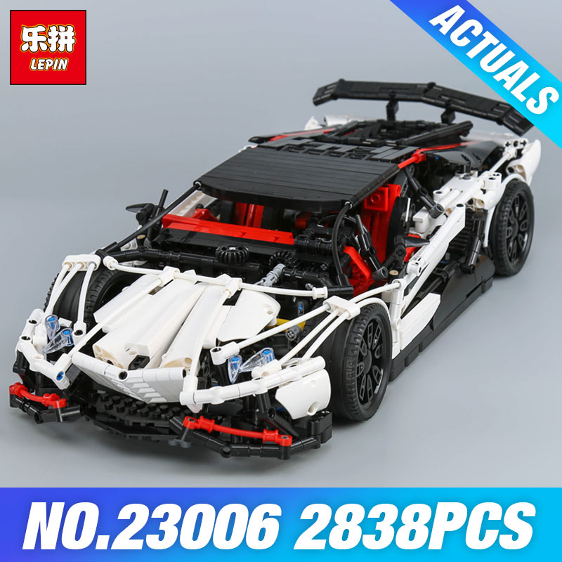 Lepin 23006 Genuine Technic Series The Super Racing Car Set MOC-3918 Model Building Blocks Bricks Kits ducational Toys Boy Gifts lepin 23013 genuine technic series the remote control off road car set 2314pcs building kits blocks bricks legoing gifts