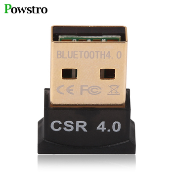 POWSTRO USB Wireless Bluetooth Adapter V4.0 Bluetooth Dongle Music Receiver Adaptador Bluetooth Transmitter For Computer PC