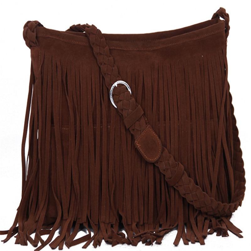 2017 New Women's Messenger Bags 6colors Fringe Shoulder Bag Handbag Ladies Tassel body Bag High Quality Free Shipping S620