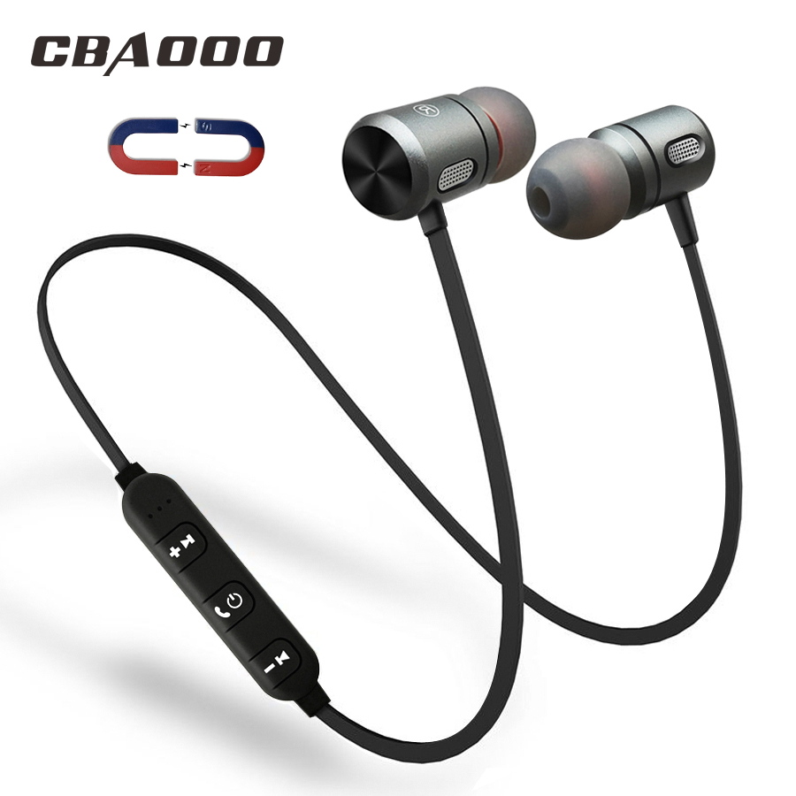 цена на CBAOOO C10 Bluetooth Earphone Headphones Wireless Bluetooth Headset Sport Magnetic Hifi Stereo with Mic for xiaomi for computer