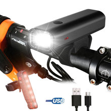 цены Bike Light USB Rechargeable Front LED Waterproof Cycling Flashlight For Bicycle Lights Headlight Rear Taillight Sets