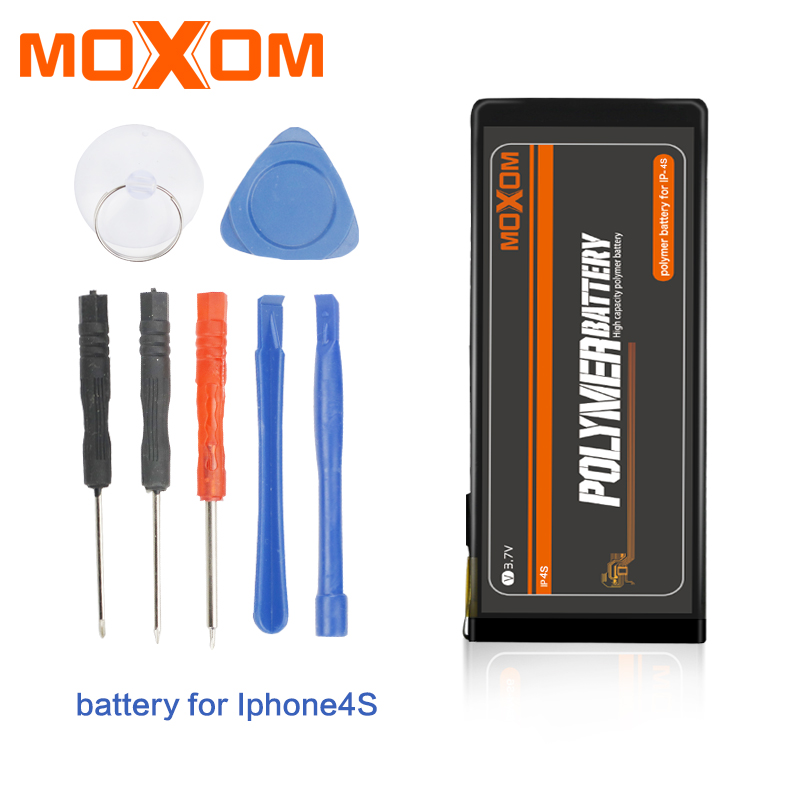 e821c0e98b62fe MOXOM Mobile Phone Batteries For iPhone 4S 4GS 1330mAh Real Capacity  Replacement Battery 3.7V Lithium Battery With Free Tools