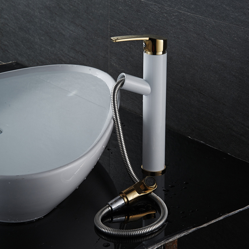 Us 60 91 14 Off Pull Out Faucet Design For Washing Hair And Face Polished Chrome Bathroom Basin Sink Mixer Tap Torneira Banheiro W005 In