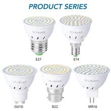 E14 LED Lamp 220V E27 LED Bulb GU10 LED Spotlight Bulb MR16 Spot Light SMD 2835 gu5.3 bombillas 48 60 80LEDs Home Lighting B22 стоимость