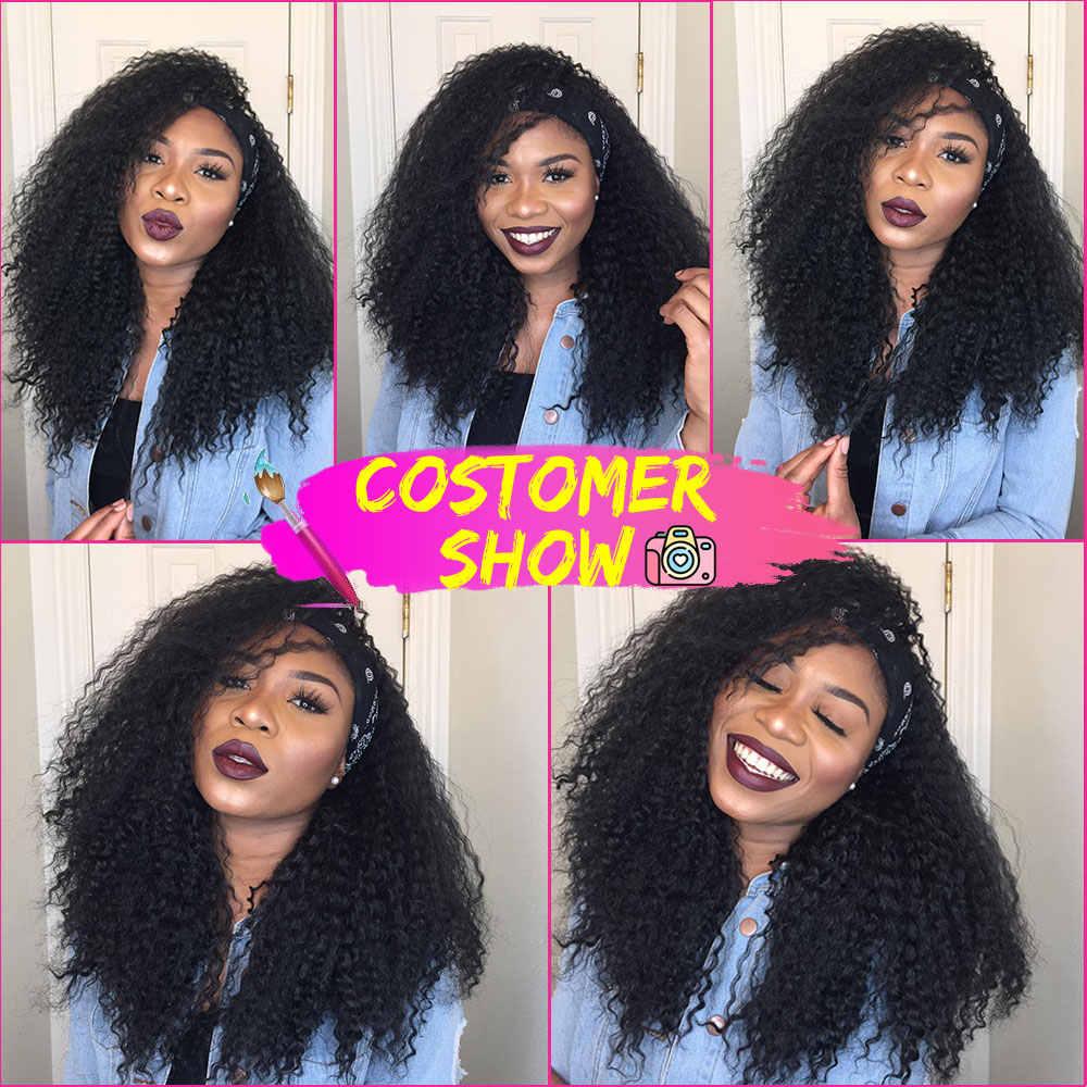 Pelucas sintéticas rizadas Afro Marley para mujeres afroamericanas negras y sedosas, pelucas marrones de longitud media