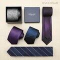 2016 Nueva Moda de Alta Calidad de Microfibra 7 cm Corbatas Delgadas para hombres Casual de Negocios Lazo de Los Hombres Corbata Gravata Marca A Prueba de agua Regalo CAJA