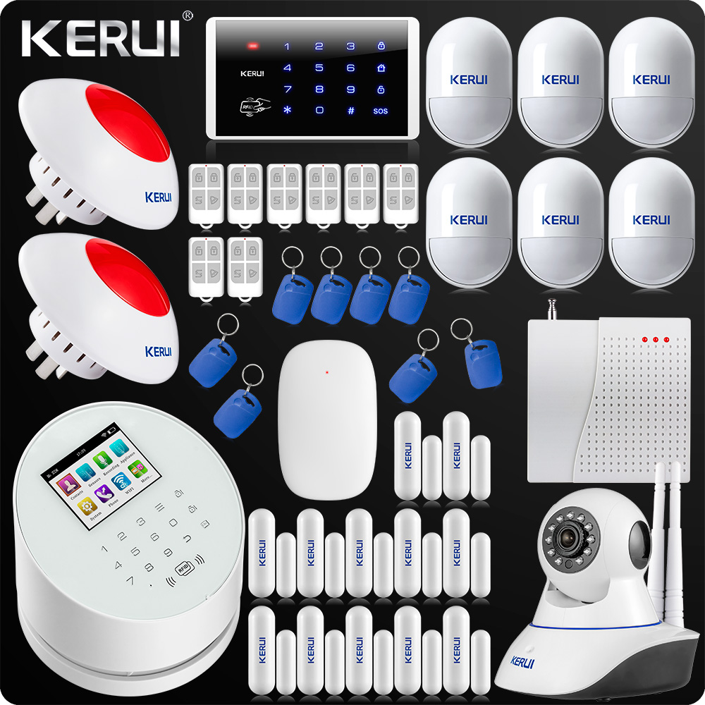 DHL EMS Free Shipping WiFi GSM PSTN RFID Security Alarm System Signal Repeater  IP Camera ISO Android Alarm Flash Siren Keyboard krakatau – the destruction