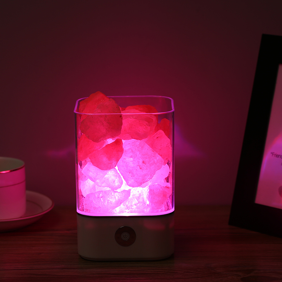 Crystal Light natural himalayan salt lamp USB led Lamp Air Purifier Mood Creator Indoor warm light table lamp bedroom lava lamp