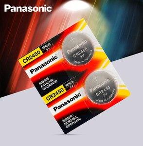 5 шт. новый оригинальный Panasonic CR2450 CR 2450 3V литиевая кнопка батареи для часов, часов, слуховых аппаратов