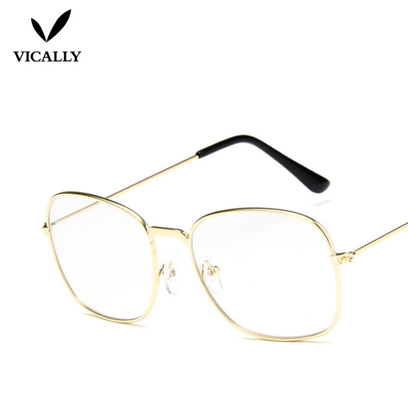 Men women Glasses Clear Sunglasses Retro Metal Frame Eyeglasses ...