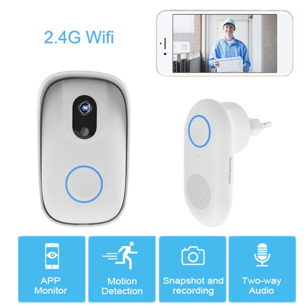 Professional One To One Unique WiFi Wireless Doorbell Camera with Snapshot Alarm App Photo Intercom Doorbell NewProfessional One To One Unique WiFi Wireless Doorbell Camera with Snapshot Alarm App Photo Intercom Doorbell New