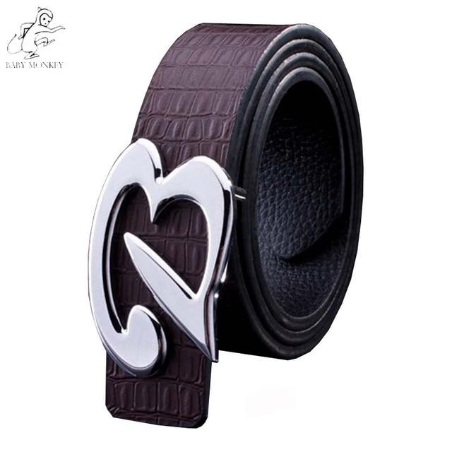 New 2016 Hot Designer Belt Men High Quality Mens Belts Luxury 100% Real Genuine Leather Smooth Buckle Strap Ceinture Homme Q146