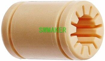 SWMAKER 3d drukarki soild polimerowe łożysko liniowe LM10UU RJ4JP 01-10 łożysko liniowe RJMP-01-10 R stałe łożysko z tworzywa sztucznego 10 x 19x29mm