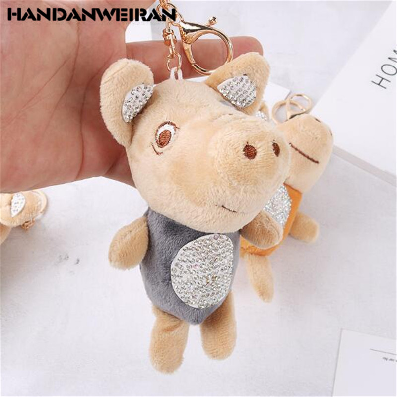 1PCS Fabric Plush Pig Toys Cartoon Cute Toy Key Chain Student Couple Gift Small Pendant 2019 Mini Hot Sale 15CM HANDANWEIRAN