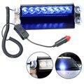 8 LED Del Estroboscópico Del Flash de Luz Parabrisas Dashboard Dash Emergencia 3 Modo Intermitente