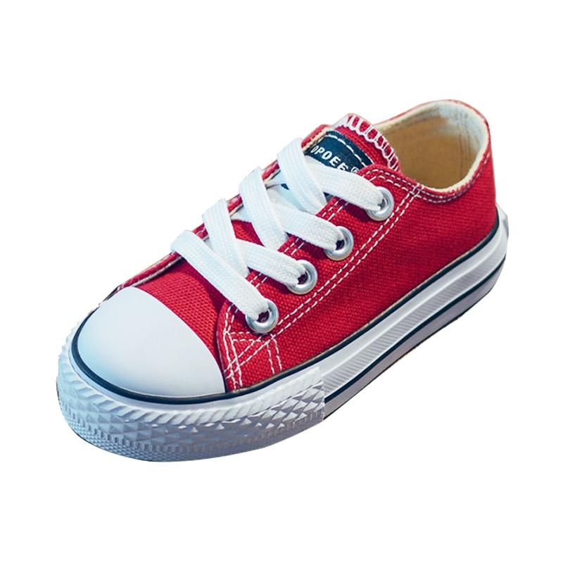 Обувь для детей для девочек Детская парусиновая обувь Обувь для мальчиков Спортивная обувь 2017 Демисезонный обувь для девочек белые Короткие Твердые дети мода Обувь