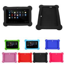 Silicone Gel Protective Back Case Cover For 7 Inch Allwinner A33 A23 Android Tablet Q88 ipad pro 11 case IJS998(China)