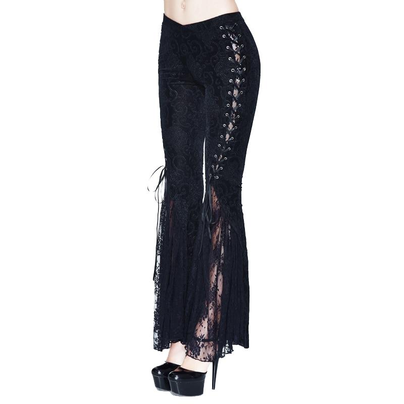 Tobillo Black Manera Lace Bangdage Nueva Llegada Flare Negro Pantalones De Sexy Las 2018 Góticas Mujeres longitud Del La Diablo Ofq1x