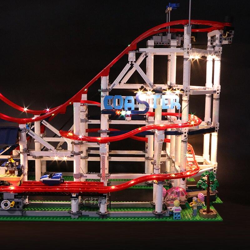 Zestaw światła Led do obsługi Lego 10261 roller coaster kompatybilny 15039 miasto creator klocki klocki zabawki (tylko LED światło) w Klocki od Zabawki i hobby na  Grupa 3