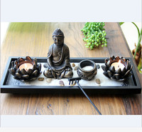 Budda candle holder modern candle stand art burners sculpture home decorative lotus bowl wedding candelabra velas wedding decor