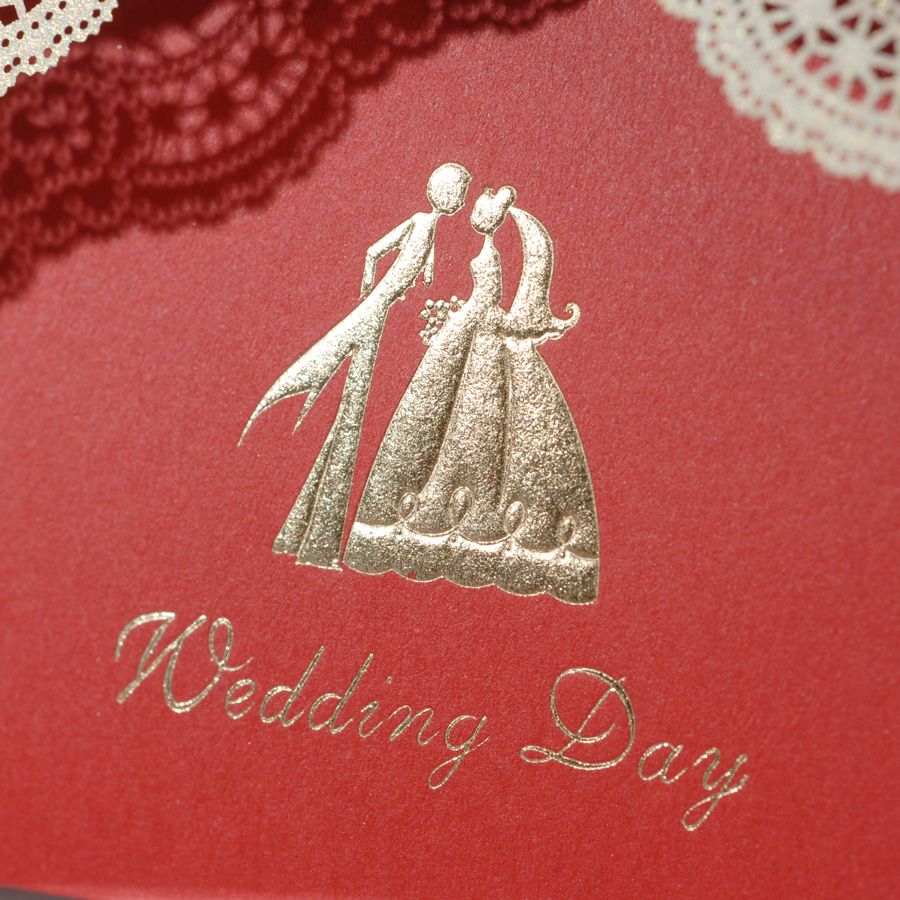 Aliexpress.com : Buy Elegant Red Color Bride Groom Wedding ...