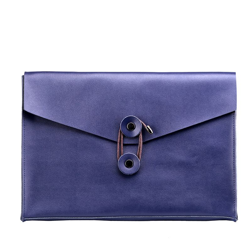 Leather File Information Bag A4 Creative Custom Leather Business Package Large Capacity Holding Briefcase