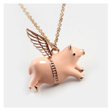 jewelry lucky angel pig short paragraph pendant Necklace clavicle chain