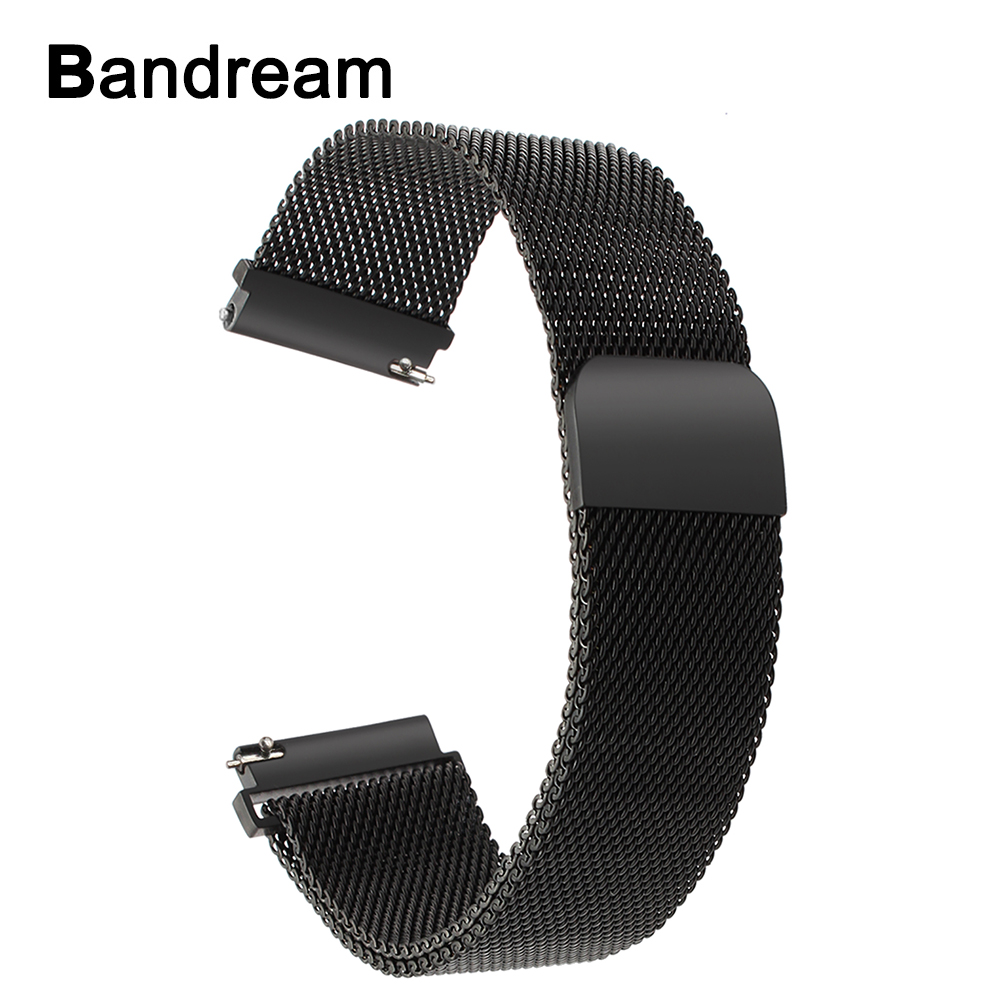 20mm Milanese Stainless Steel Watchband for Huawei Watch 2 (Sport) Magnetic Band Wrist Strap Bracelet Black Gold Blue Colorful neway stainless steel milanese watch band strap wrist watchband wristwatch buckle black rose gold silver 18mm 20mm 22mm 24mm