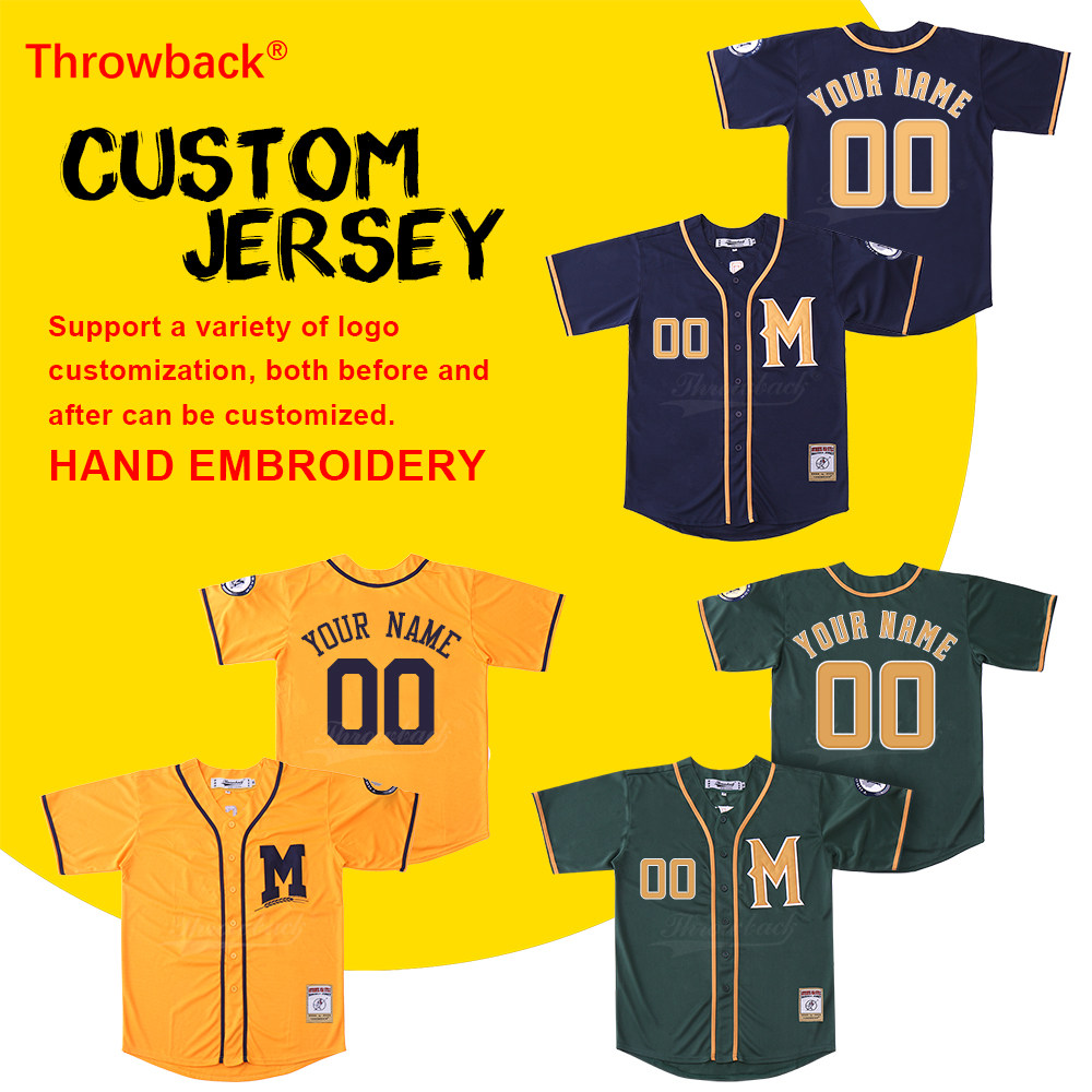 Online Shop Cpd W33 Professional Japan Baseball Jerseys Skin Tight Jersey Nama Throwback Mens Milwaukee Customized Any Number Name Size S Xxxl