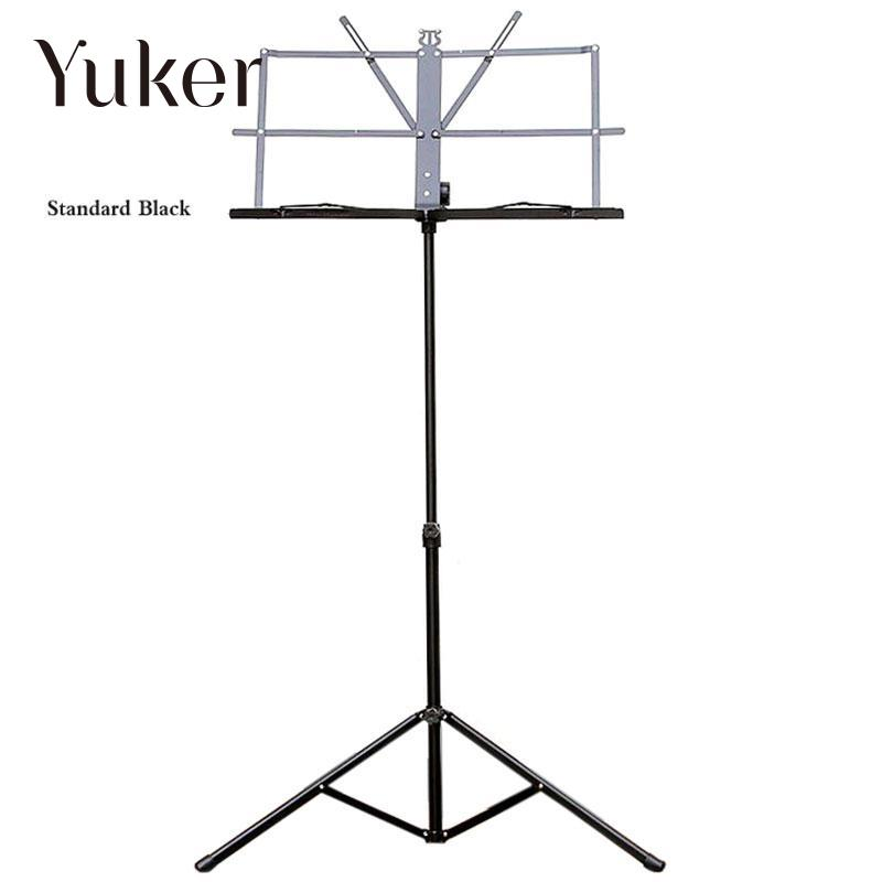 Folding Portable Metal Music Stand Holder Rack Sheet With Carrying Bag Guitar Instrument Part Accessories allen roth brinkley handsome oil rubbed bronze metal toothbrush holder